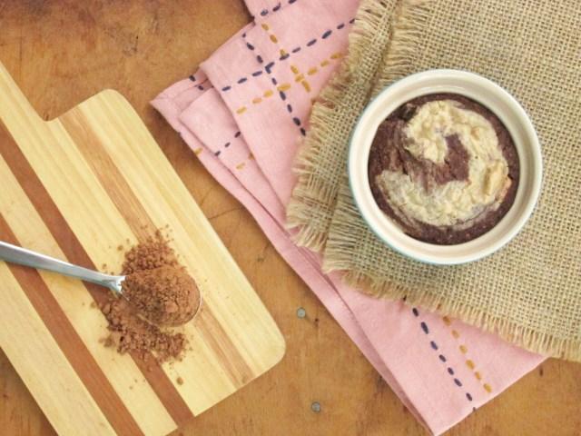 Tahini Swirl Brownie Baked Oatmeal #Vegan #OatmealArtist