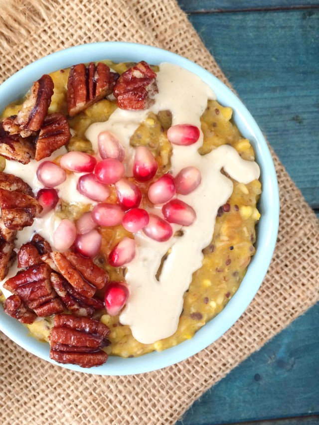kabocha-pomegranate-oatmeal-with-tahini-and-pecans-3