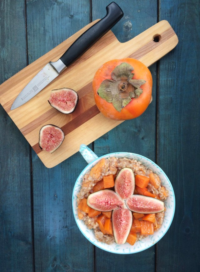 spiced-persimmon-and-fig-oatmeal-vegan