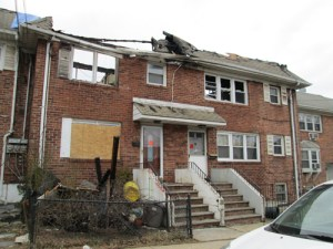 Photo by Ron Leir The aftermath of the four-alarm fire on Warren St. in Harrison.
