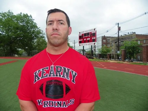 Photo by Jim Hague Nick Edwards was named the new head football coach at Kearny High School last week, replacing Pete Llaneza, who resigned at the end of the 2012 season. Edwards was an assistant at Kearny for five years.