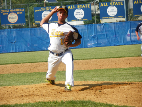Photo by Jim Hague Belleville senior pitcher Josh Caba won seven games for the Buccaneers this season, as they improved from seven wins in 2012 to a 23-win state sectional semifinalist in 2013.