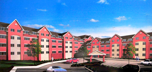 Rendering courtesy Essex County Executive's Office Here's how the developer envisions the proposed senior citizen complex in Belleville.