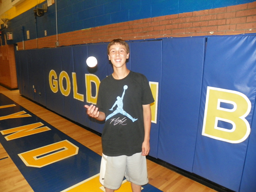Photo by Jim Hague Soon-to-be Lyndhurst High School junior Nolan Kelly has taken on a tough challenge, living with Tourette syndrome and being able to pitch varsity baseball with the illness.