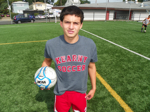 Photo by Jim Hague Kearny is fortunate to have forward Andres Pesantez back for his senior year. Pesantez had 17 goals last season, but was slowed by an injury.