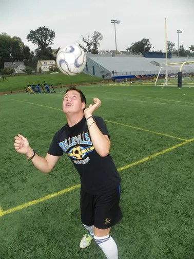 Photo by Jim Hague Junior Max Correa is having a ball, leading the way for the Belleville boys' soccer team. Correa, the team's leading scorer last year, is contributing goals and assists this season as well.
