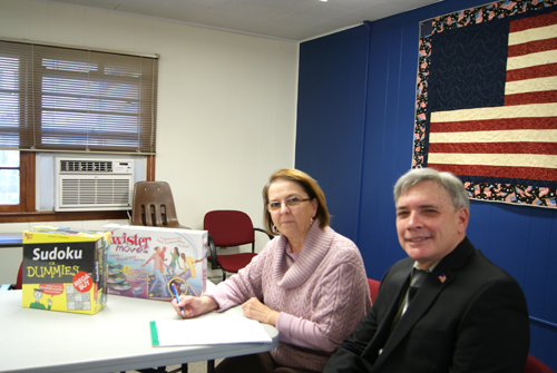 Photo by Karen Zautyk Nutley's annual Holiday Treasure Chest Adopt-a-Family project is in the competent hands of coordinator Annmarie Nicolette and Commissioner Steven Rogers. Sponsors are currently being recruited.