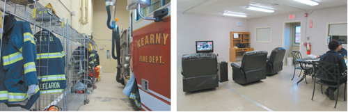Photo by Ron Leir Fire Company 4 is settling in to its new quarters in South Kearny.