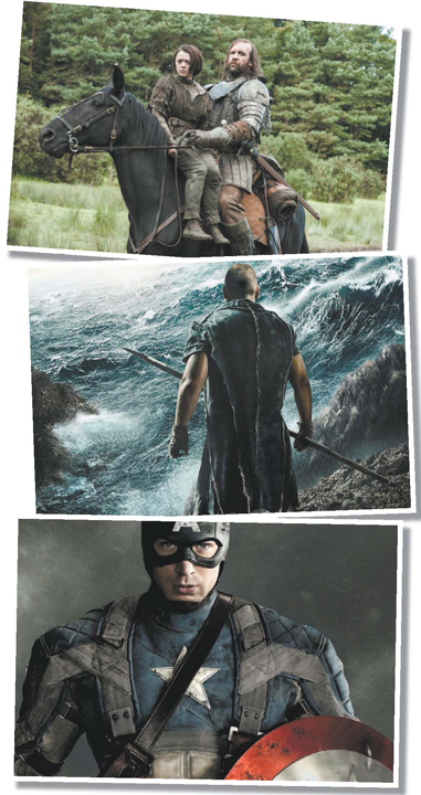 "Photos courtesy Google Images TOP: ""Game of Thrones""; MIDDLE: ""Noah""; BOTTOM: ""Captain America: The Winter Soldier."""
