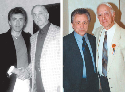 Photos courtesy Joe Fornarotto Left: Frankie Valli and Joe Fornarotto in 1987. Right: The pals back together five years ago.