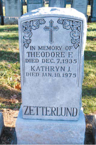 A Bayonne man helped solve the mystery of the missing headstone for Kearny's Theodore Zetterlund.