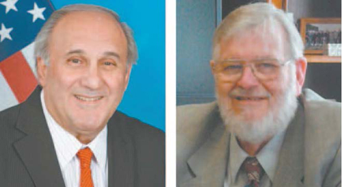 Voters chose Republican Joseph Bianchi (l.) as mayor of North Arlington and Democrat James Fife as mayor of Harrison.