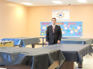 Photo by Ron Leir HHS Principal Matthew Weber in space targeted for culinary arts classroom