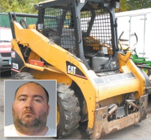 Photos courtesy NJAG Caterpillar Skid-Steer stolen from Lyndhurst construction site. Inset: Michael J. Troncone