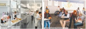 Images courtesy Hord / Coplan / Macht Renderings of upgraded classrooms proposed for Lyndhurst High School