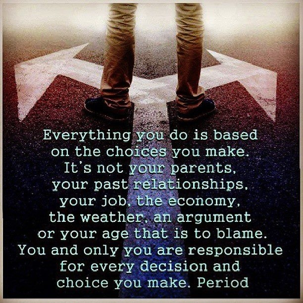 Your Choices Alone