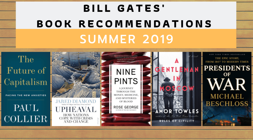 Bill Gates' book recommendations for summer 2019