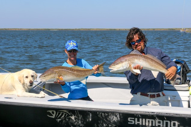 Two redfish at once!