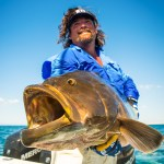Carter with Broomtail Grouper