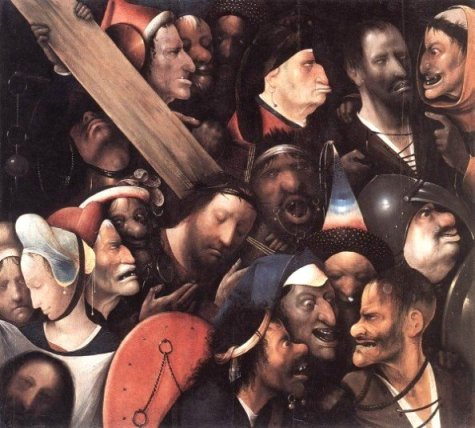Hieronymus Bosch (1450 – 1516), Passion scene, showing non-Jewish Jesus and Veronica with Jews