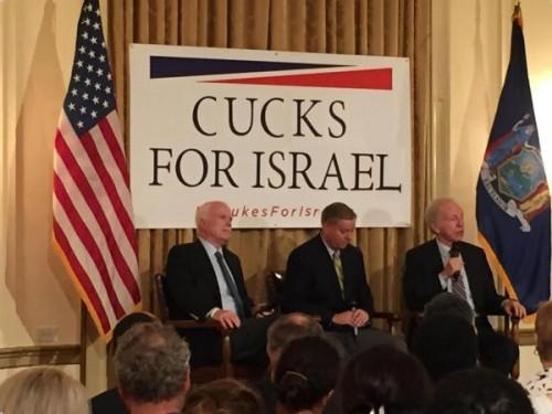 Except that Joe Lieberman is not a cuck. He's cucking John McCain and Lindsey Graham.