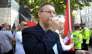 Jez Turner addressing a rally
