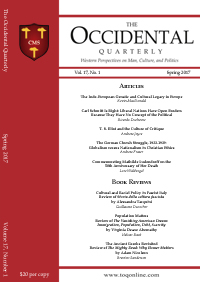 The Occidental Quarterly - Spring 2017