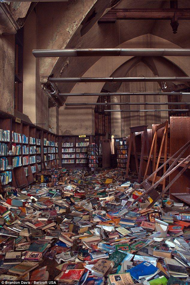 Detroit's once glorious Mark Twain Public Library.