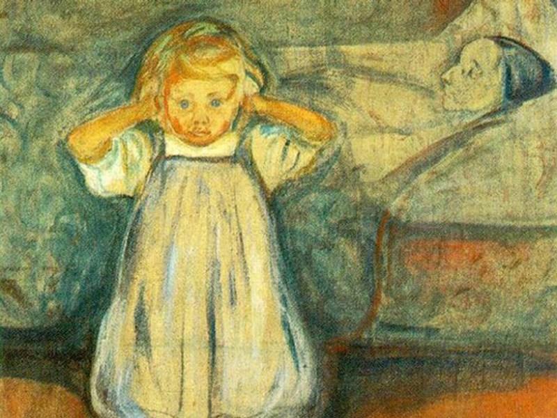 5 peintures hantées - La mère morte par Edvard Munch