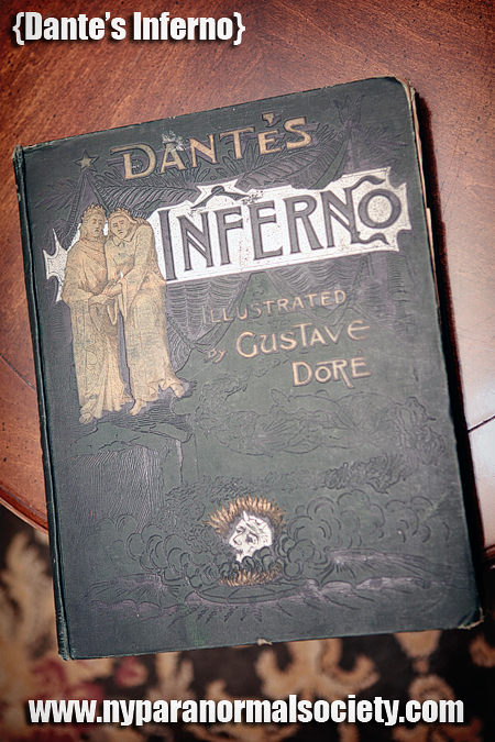 A copy of dante's inferno that was believed to be haunted by a ghost
