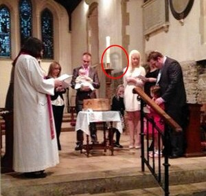 Picture of a ghost captured in St. Martin's Church and posted on Facebook.