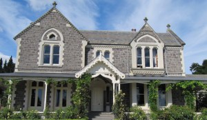 The Castle Claremont in New Zealand, supposedly haunted by a ghost and attracting ghost hunters.