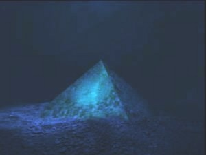 A crystal pyramid is said to be under the waters of the Bermuda Triangle.