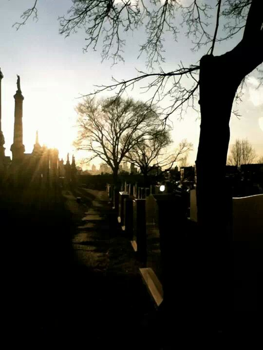 Calvary Cemetery ghost