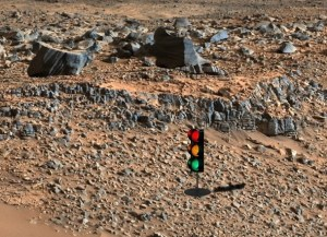 UFO nut sees traffic light in Mars rover photo