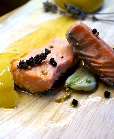 Confit Salmon with Lavender Recipe