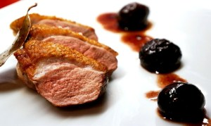 duck breast recipe - cooking duck breast with prunes by Theo Michaels