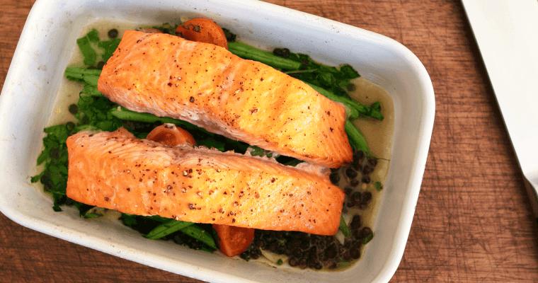 Salmon Tray Bake for David Lloyd Clubs