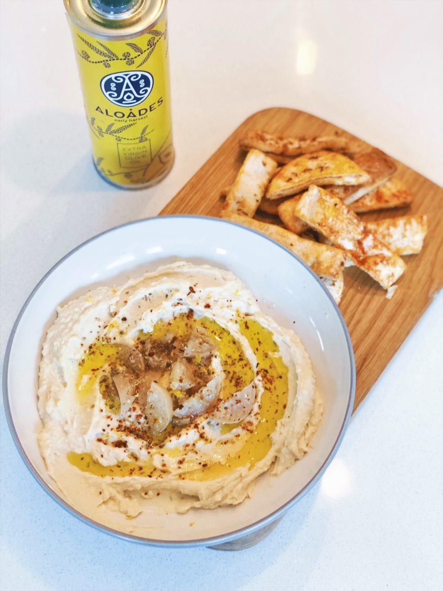 Cannellini Bean Dip with Preserved Lemons and Aloades Olive Oil