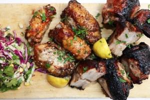 CyprusBBQ PorkBelly Tamarind Chicken Thighs Souvla