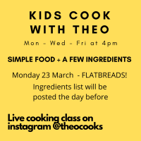 LIVE cookalong this Monday 23rd March @ 4pm
