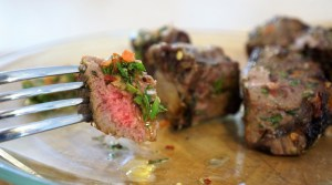 Churrasco Kebabs and Chimichurri Sauce by Theo Michaels BBQ