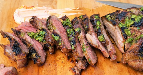 Close up BBQ Leg of Lamb Greek Style - Butterflied Leg of Lamb