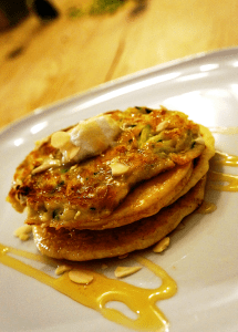 Zucchini pancakes - Greek Inspired Feta and Courgette pancakes by Theo Michaels