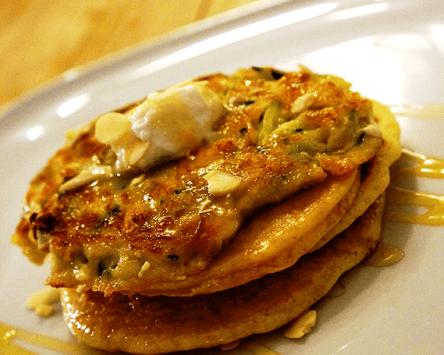 Zucchini Pancakes – Greek inspired Courgette and Feta Pancakes