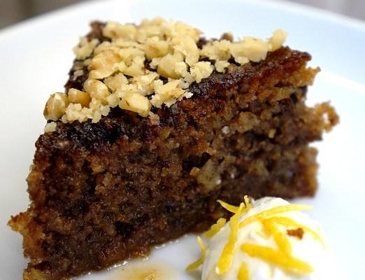 Karidopita – Greek Walnut Cake – the best walnut cake recipe ever..!