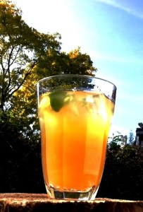 Iced Jaggery or Sugar Cane Drink