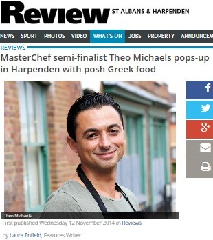 St Albans & Harpenden paper review my Popup – and a surprise celebrity guest!