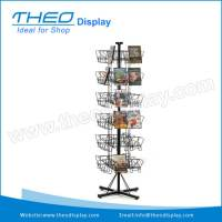 TH-655-Freestanding Wire Revolving Rack DVD Display ...
