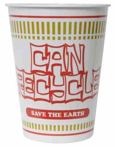 Nissin Cup Noodle Inspired Trash Bin